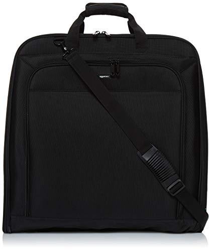 Amazon Basics - Hochwertige Kleidertasche, dreifach faltbar, Schwarz, 1,67m