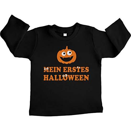 Baby Halloween kostuum shirt - Mijn eerste Halloween pompoenkop Unisex baby shirt met lange mouwen