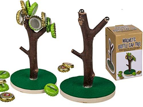 Bada Bing Kronkorkenbaum Magnetisch Beer Tree Dekobaum Bier Baum für Kronkorken Geschenk Für Männer Trinkspiel Deckelbaum Magnetbaum 09