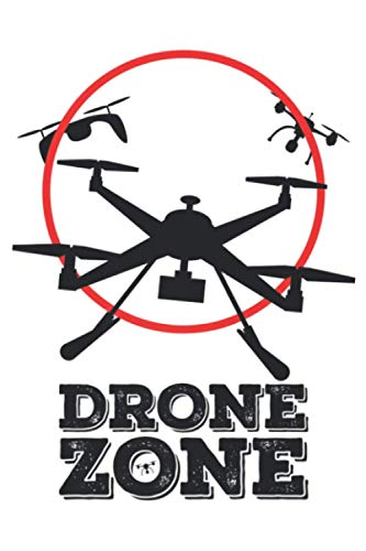 Drone Zone Flying Drone On A Red Zone Engineer Geek Premium: Notebook Planner -6x9 inch Daily Planner Journal, To Do List Notebook, Daily Organizer, 114 Pages