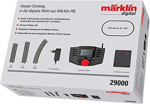 Märklin 29000 - Digital-Startpackung, Spur H0, Startset mit C-Gleis Schienen und Mobile Station