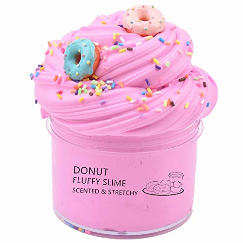 YMDY Donut Slime with Charms Scented Butter Slime Non-Sticky Stress Relief Toy for Girls and Boys (200ml)