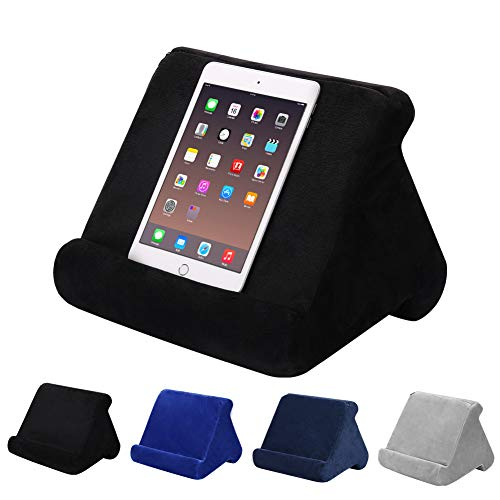 Tablet Pillow Stand,Pillow Pad Laptop Holder Tablet Pillow Foam Lap Desk Stand Multifunction Laptop Cooling Pad Tablet Stand Holder Stand Lap Rest Cushion for Ipad (Black)