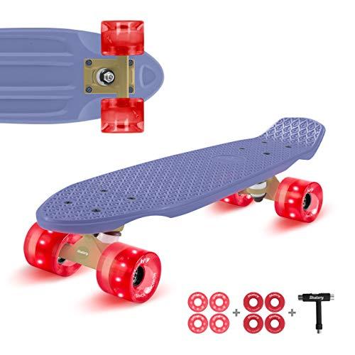 Skatery Mini Cruiser by fun pro (blau rot)