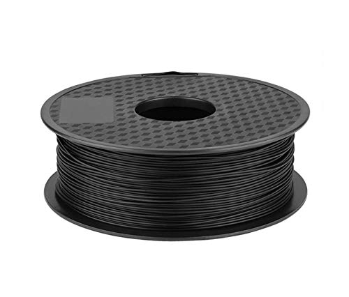 without DZF-BGS 5 Colors Optional Ender 3D PLA Printer Filament 1.75mm 1kg/Roll 2.2lb Spool with CE Certification For CREALITY 3D Printer (Color : Black)