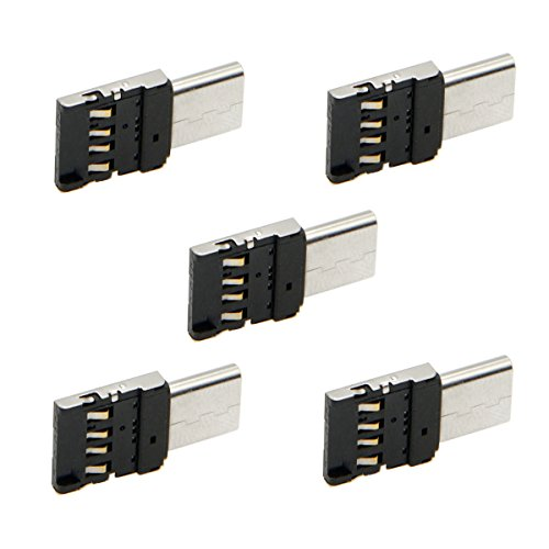 CY Mini Size USB 3.0 naar Micro SD SDXC TF-kaartlezer met Micro USB 5pin OTG-adapter voor tablet/mobiele telefoon USB-C*5set