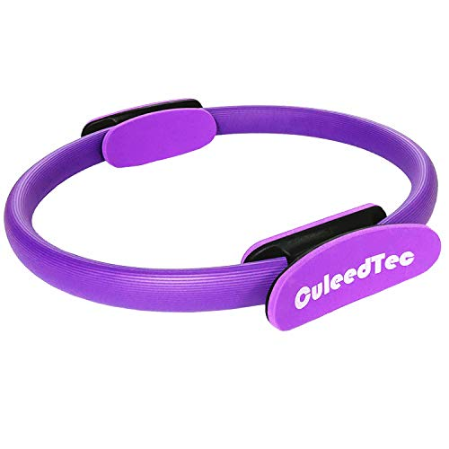 CuleedTec 15 Inch Double Handle Pilates Yoga Ring - Exercise Fitness Circle...