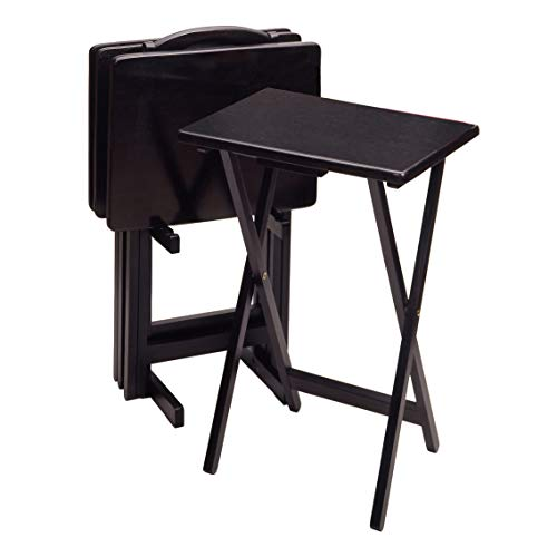 Winsome Wood 5-Piece TV Table Set, Black