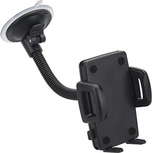 hr-imotion Universal Schwanenhals Halterungslösung für alle Smartphones zwischen 56mm und 85mm Breite [5 Jahre Garantie | Made in Germany | vibrationsfrei] - 22010501