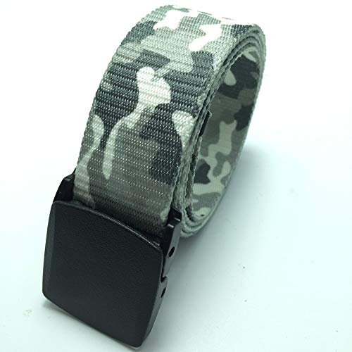 PIDAIKING Canvas Riem, Wit Camouflage Hypoallergeen, Glad Riem, Digitale Indonesische Draak Riem, Casual En Eenvoudig, Outdoor Sporten, Comfortabel En Ademend, Voor Mannen En Vrouwen