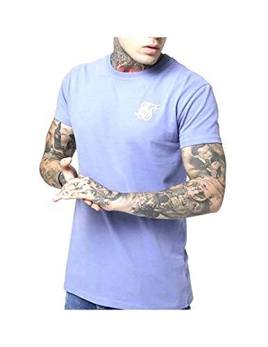 Camiseta Siksilk S/S Peached Box tee Blue Ice Homb XS Morado