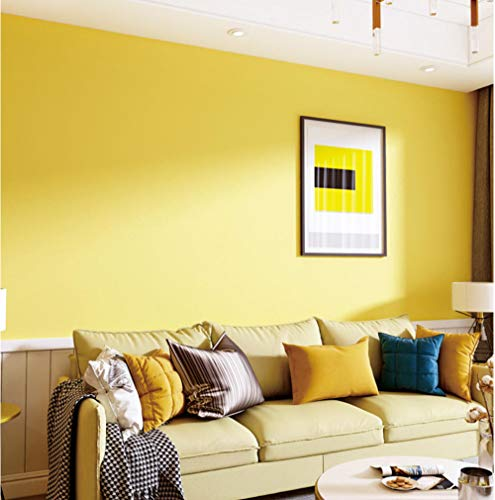 Modern minimalist wallpaper Normallacktechnik im nordischen Stil zitronengelb Non-woven wall papers roll Decor for Bedroom Living Room Arthouse Nursery TV Backdrop 0.53 x 9.5m