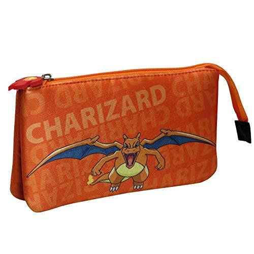 Portatodo Triple con 5 Compartimentos Pokémon - Charizard