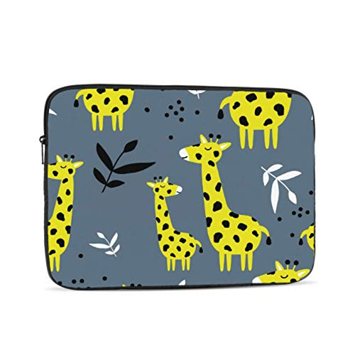 Macbook Pro Protective Case Cartoon Yellow Giraffe Family Macbook Pro Shell Case Multi-Color & Size Choices10/12/13/15/17 Inch Computer Tablet Briefcase Carrying Bag
