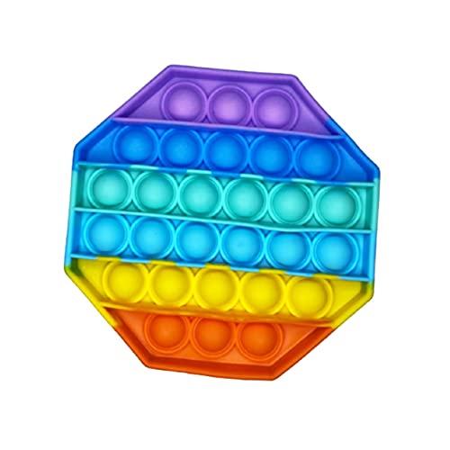Brinquedo Pop It Fidget Colorido Anti-Stress Sensorial Importado Entrega Imediata (Octógono)