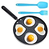 🍳 SAFE & NON-TOXIC MATERIAL: Made of high-quality food grade aluminum and silicone, Heat resistant, BPA free, non-toxic. 🍳 NON-STICK FINISH: Polished surface let the egg demould easily from the mold without sticking and keep shape during cooking. 🍳 E...