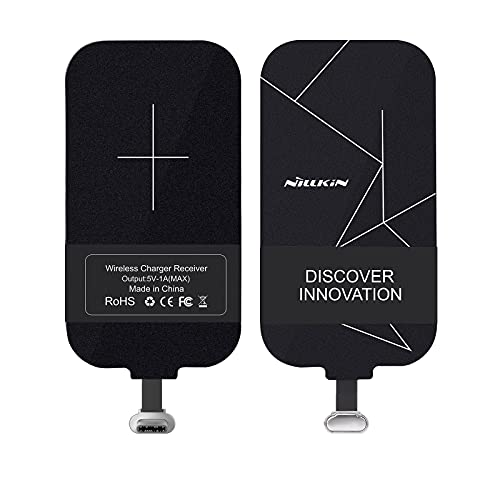 Nillkin Tipo C Qi Receptor De Carga Inalámbrico Chip Receptor De Cargador Inalámbrico Magic Tag USB C Qi para Poco X3 Pro/Redmi Note 10 Pro/Samsung Galaxy M11 y Otros teléfonos Android Tipo C (Corto)