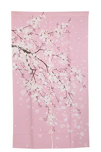 I-MART cortina de puerta noren japonesa con flores de cerezo, 59 x 33.5 pulgadas