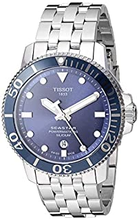 Tissot Men's Seastar Swiss Automatic Sport Watch with Stainless Steel Strap, Silver (Model: T1204071104101) (B07YSS97VN) | Amazon price tracker / tracking, Amazon price history charts, Amazon price watches, Amazon price drop alerts