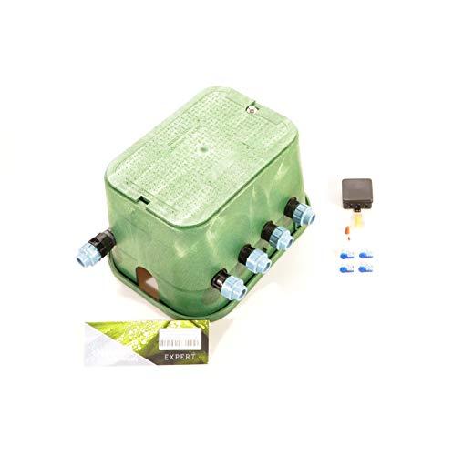 Ventilbox EXPERT - 4 x Hunter PGV-101MMB Magnetventil (4 Zonen), mit (3/4