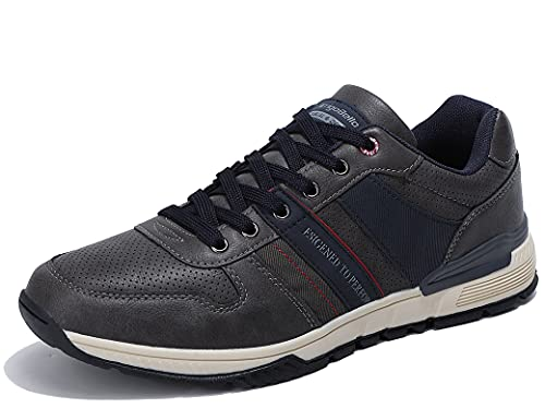 ARRIGO BELLO Zapatillas Hombre Zapatos de Casual Sneakers Vestir Deportivas Confort Jogging Transpirables Sneaker Talla 41-46(Q Gris, 42)