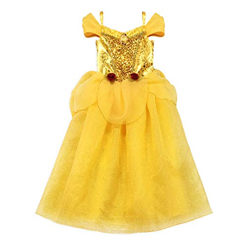 Disney Belle Costume for Girls  Beauty and The Beast, Size 5/6 Yellow