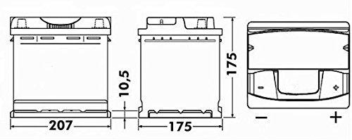 Yuasa YBX3063 12V 45Ah 425A SMF Battery