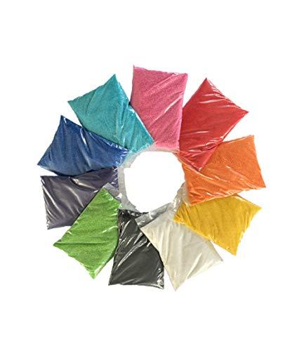 naninoa FARBSAND, Dekosand Set farbig Mix 0,5 mm 10 x 0,5 kg = 5 kg. Mixpackung bunter Sand. SA1M141