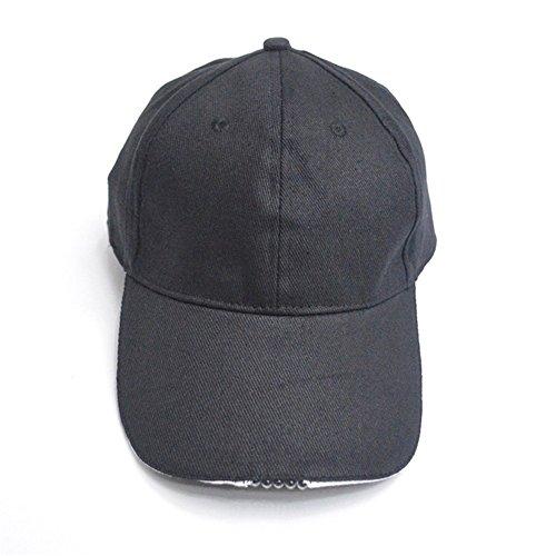Gorra de Béisbol con 5 LED Luces de Manos Libres LED Linterna Cap Ajustable Correa de Sombrero de Pesca de Acampada de Senderismo