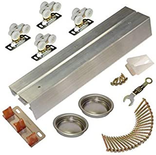 Johnson Hardware 118F Sliding Bypass Door Hardware (72 Inch - 2 Door System)