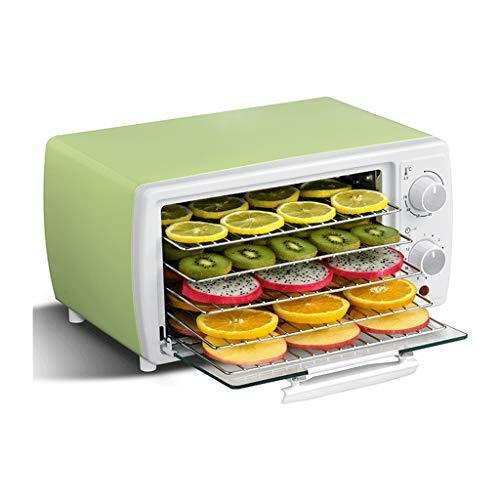 Lowest Prices! Electric Food Dehydrator, Stainless Steel Food Dryer, Two Knobs Adjustment, 5 Grills,...