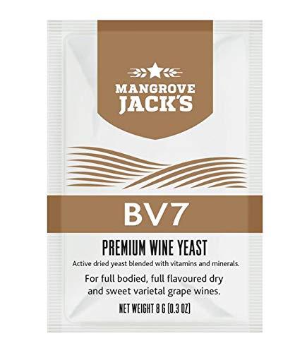 Weinhefe - Mangrove Jack's BV7-8g/25L Trocken Hefe für süße Weißweine