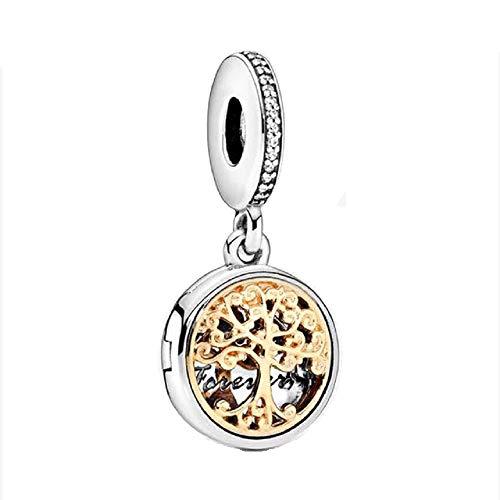 Desconocido JCaleydo – Albero della vita, scatola in argento Sterling 925, con scatola regalo, compatibile con bracciale Pandora