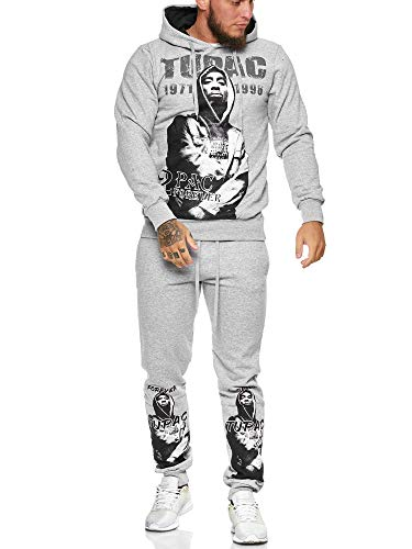 OneRedox | Herren Trainingsanzug | Jogginganzug | Sportanzug | Jogging Anzug | Hoodie-Sporthose | Jogging-Anzug | Trainings-Anzug | Jogging-Hose | Modell JG-523 Grau S