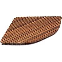 AsinoX TEK3A7171 Tarima de ducha de madera de teca, Natural, 71 cm