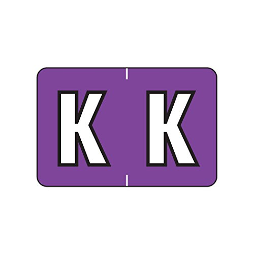 AMZfiling Alphabetic Color Coded Labels- Letter K, Purple, Barkley ABKM and Sycom Compatible (Polylaminated, 500/Roll)