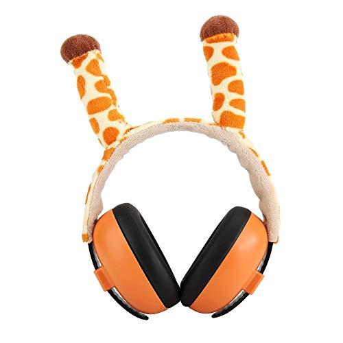 Gehoorbescherming Ruisonderdrukkende oorbeschermers, Leuke cartoon baby-hoofdtelefoon met ruisonderdrukking, Zachte huidvriendelijke oorbeschermende hoofdtelefoon/oorbeschermers(Giraffe)