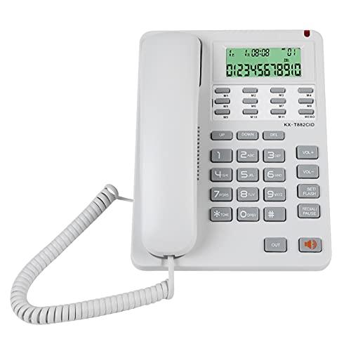 Bindpo Teléfono Fijo, Pantalla de identificación de Llamadas Teléfono Fijo DTMF/FSK Teléfono...