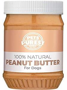Pets Purest 100% Natural Mantequilla de maní para los Perros. Formulado para Perros sin adición de azúcar, Sal o xilitol. Libre de Las Palmas oleaginosas, Trigo y Gluten. Fuente de proteínas