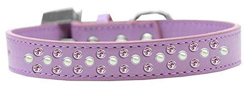 Mirage Pet Products Sprinkles Hundehalsband mit Pearl und Light Pink Kristallen