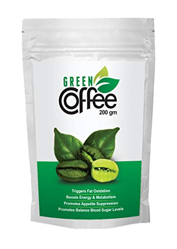Vokin Biotech Organic Green Coffee Beans Decaffeinated & Unroasted Arabica Coffee for Weight Management (200 Gram)
