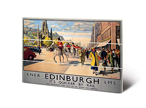 National Railway Museum Kunstdruck auf Holz, 20 x 29,5 cm (Edinburgh)