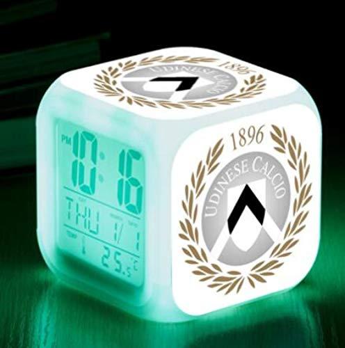 Reloj despertador digital Cube Valencia hora, fecha, temperatura, muy adecuado como despertador de viaje o despertador de cabecera regalo de Navidad