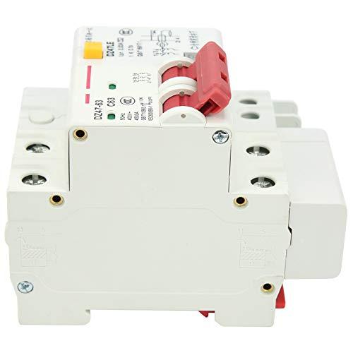 DAUERHAFT Disyuntor de 2 Polos 6‑63A Operación con manija Protección contra sobrecarga Disyuntor de Circuito en Miniatura de bajo Voltaje Cableado Frontal para interruptores de Aire industriales