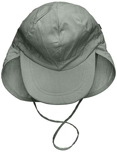 Melton Baby-Jungen Sommerhut mit Schirm und Nackenschutz UV 30+, Uni Kappe, Grau (Light Grey 132), 49