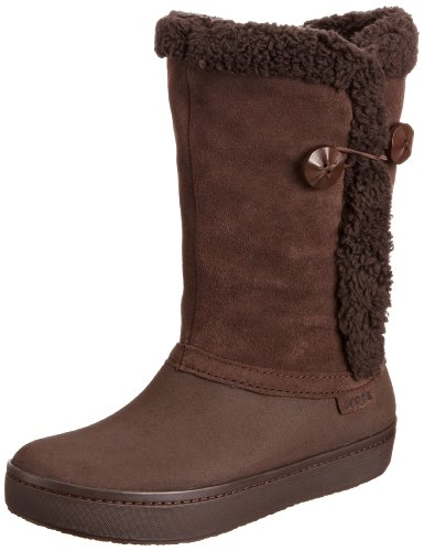 Hot Sale crocs Women's 14536 Modessa Suede BTN W Boot,Espresso/Espresso,8 M US