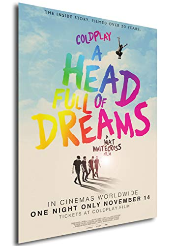 Instabuy Poster - Theaterplakat - Coldplay A Head Full of Dreams Manifesto 70x50