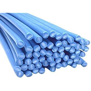 Plastique baguettes de soudure PE-HD Bleu RAL5005 4mm Ronde 25 Barres HDPE