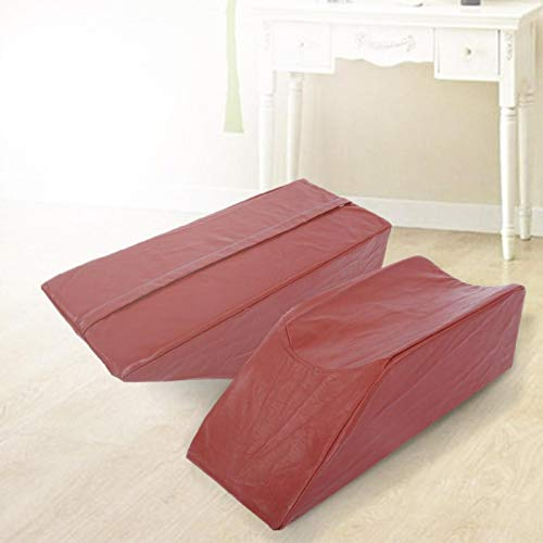 Omabeta Leg Elevation Pillow Dual Foam Konstruktion für die hintere Hüfte(Brown Leather, 50 * 20 * 15cm)