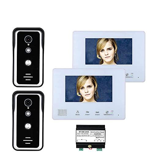 Sistemas De Intercomunicadores De Teléfono De Video De Video De 2 Pulgadas De Autobús De 2 Pulgadas Para La Cámara De 2-timbre De 2 Puertas 2-Monitor